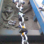 Load cell calibration using shackles